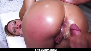 Cheating PAWG Wife Almost Caught Having Anal Sex - creampie cumshot