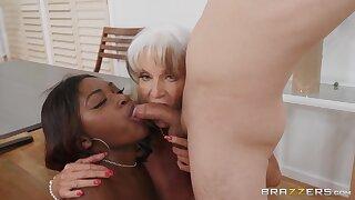 Interracial threesome with grandma and curvy ebony - Ricky Spanish, Noemie Bilas, Sally D'Angelo