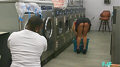 FILF - MILF Katie Morgan Takes Multiple Loads At Chum around with annoy Laundromat