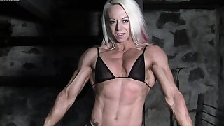 Sissified Bodybuilders Muscles Strain Against Chains