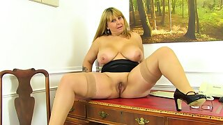 British milf Gilly dildos her shaven untrue be expeditious for us