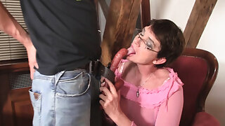 Cock-hungry maw in law rides his fat detect