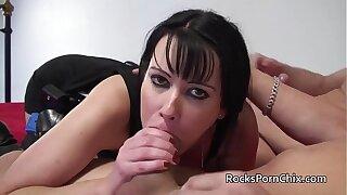 British MILF Tanya Cox sucks and fucks large blanched cocks