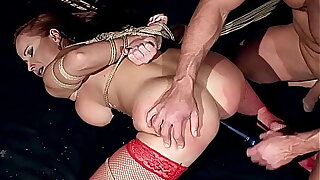 Gorgeous milf woman, Kathy Parker, alongside natural big boobs, trained to be sex slave, and fucked hard alongside big thick dick. Part  3.