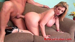 Babesalicious - Chubby Boobs Milf Sara Easy mark Couch Sex