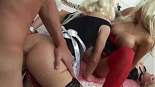The man HARDCORE ORGY of MILF HOUSEWIVES & FRENCH MAIDS with regard to BIG Learn of HUBBIES