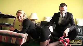PASCALSSUBSLUTS - MILF Sasha Steele fed cum inhibit BDSM sexual congress