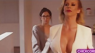 April O Neil is the new office assistant of this lady MILF boss Alexis Fawx.They started with a hot lesbian sex and both enjoyed it until orgasm.