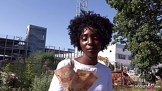GERMAN SCOUT - Treacherous EBONY MILF ZAAWAADI REAL PUBLIC PICKUP SEX Be worthwhile for CASH IN BERLIN