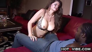 Monster BBC Interracial Creampie for Thick MILF with Big Tits