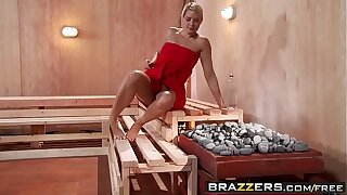 Brazzers - Hot Plus Stingy - ( Jenni Lee, Juelz Ventura) - Hot Sauna Pussy
