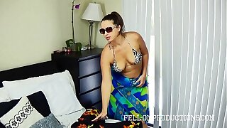 Hot MILF With Big Irritant Fucks in Thong Bikini