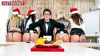 LETSDOEIT - Hot Office Christmas Fuck Fest In the matter of German MILFs - Part 1
