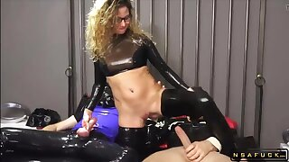 Real German MILF Assfucking BDSM Latex 3Some Orgy